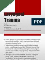 Laryngeal Trauma Ppt