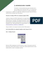 HTML INTRODUCCIÓN Y DISEÑO