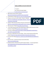 6. Fellowships and Programs Securiy Studies