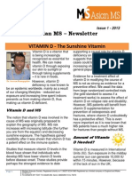 Asian MS Newsletter Issue 1, 2013
