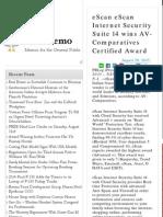 eScan eScan Internet Security Suite 14 Wins AV-Comparatives Certified Award Pub Memo.