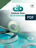 CB - Technische Daten Fur CB- Tellerfedern