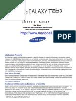 Galaxy Tab 3 Wifi SM-T310 JB English User Manual