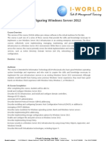 MCSA Windows Server 2012 installation and configaration by Iworld technologies