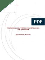 Problemas de competencia en el mercado del suelo en España