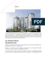 Al Sadd Complex Fire Strategy Report Rev 1