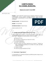 Mignovillard - Compte rendu du Conseil municipal du 4 mai 2009
