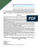 NOM-017-STPS-2001 Equipo de protección personal-Selección, uso y