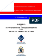 ANZSBT Antenatal Guidelines Blood Grouping