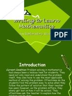 Writing to Learn Mathematics