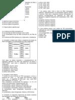 Questões de bio síntese de proteínas