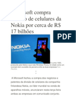 Microsoft compra divisão de celulares da Nokia