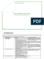 Planning Services Document