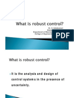SN 3 What is Robust Control