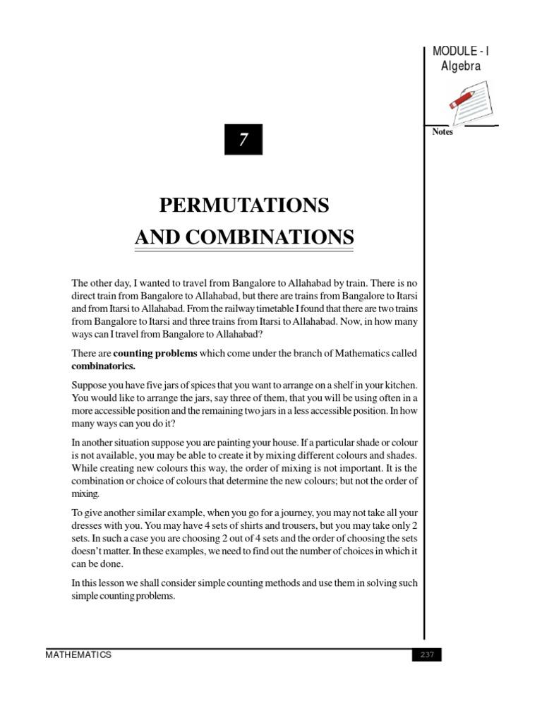 permutation and Combination | Permutation | Algebra