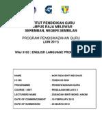 WAJ3103 English Language Proficiency