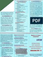IIRM 2013 14 Brochure