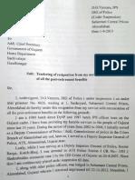 D.G. Vanzara's Letter