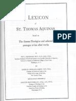 Lexicon of St. Thomas (1), ed. Deferrari