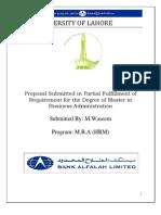 Internship Report bank alflah