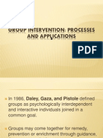Group Intervention Processes and Applications