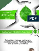 Presentasi Sistem Kesehatan