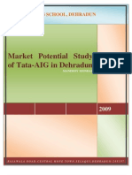 project report on tata aig life insurance