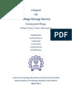 Village Energy Survey KalampadaVillage, ShahpurTaluka, Thane, Maharashtra