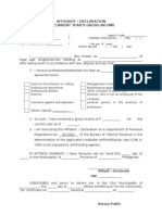 BIR Sworn Declaration Format