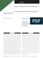 Alcohol y Salud Pública en América Latina