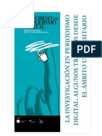Varios - La Investigacion en Periodismo Digital 2011
