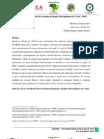 Panorama e dinâmica recente da economia da Região Metropolitana do Cariri – RMC