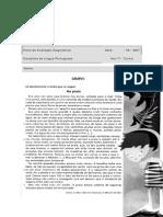 Ficha Diagnóstica LP 7ºano
