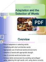 Adaptation and the Selection of Words Chapter 2(English Writing Skills)