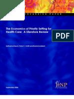 Health Care Economics and Literature Review