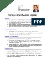 Curriculum. Daniel Jurado 2013