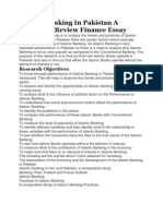 Islamic Banking in Pakistan a Literature Review Finance Essay