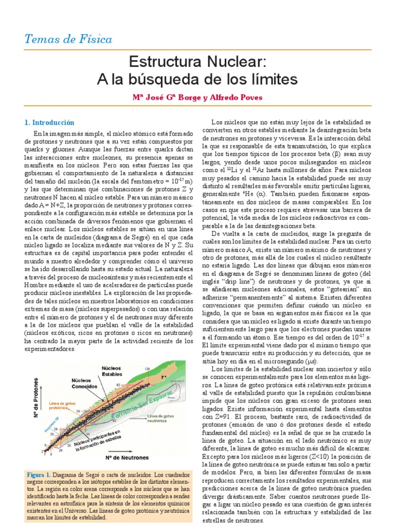 4 13 Estructura Nuclear Busqueda Limites