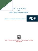 Bput New Sylabus Mba
