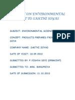 Report on Environmental Visit to Sakthi Soyas