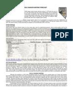 Chukar Forecast 2013