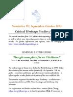Newsletter #7 Critica Studies