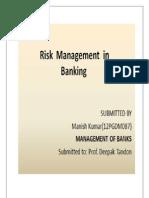 Management of banks