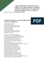 Letra Doble v- Vicios y Virtudes