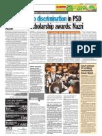 thesun 2009-06-17 page04 no discrimination in psd scholarship awards nazri