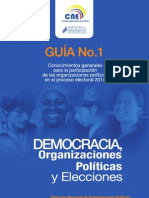 GUÍA No 1 CONOCIMIENTOS GENERALES PARA LA PARTICIPACIÓN DE LAS ORGANIZACIONES POLÍTICAS EN EL PROCESO ELECTORAL 2014