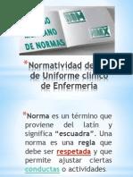 Normatividad _ uso de Uniforme clínico de Enfermería