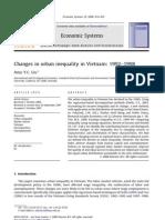 Economics System - Changes in urban inequality in Vietnam 1992–1998
