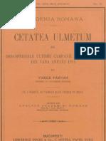 Vasile Pârvan, Cetatea Ulmetum, III.