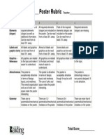 Reading Poster Rubric